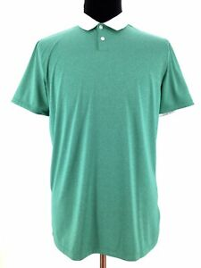 Nike Golf Mens Dri Fit Standard Short Sleeve Green Golf Polo Shirt Size Medium $16.99