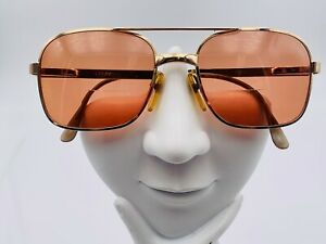 Vintage Lamy Gold Metal Square Aviator Sunglasses FRAMES ONLY $37.40