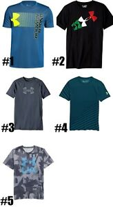 New Under Armour Big Boys Logo Print T Shirt Choose Color and Size MSRP $25 $13.99