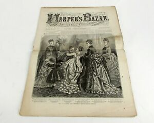 Harper#x27;s Bazar 12 6 1873 Victorian Patterns Ladies Children Winter Dresses Hood $19.95