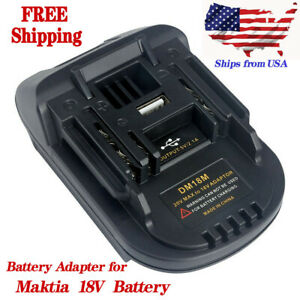 Adapter DM18M Convent Dewaltamp;Milwaukee to Makita 18V Lithium Battery BL1830