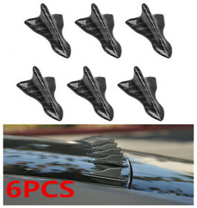 2020 New Accessories Car Roof Shark Fin Decorative Sticker Carbon Fiber Decors