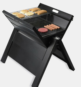 GIANT portable Tailgating Grill Folds Up To Carry Never Opened Camping BBQ