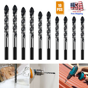 10pcs Drill Bit Set Ceramic Glass Multifunctional Ultimate Punching Hole Working