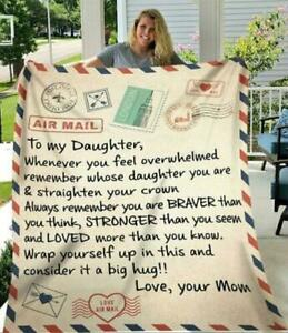 To My Daughter Whenever You Feel Overwhelmed Remember Love Fleece Blanket