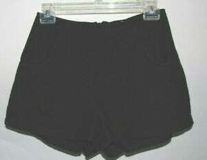 LEITH Womens Black Rayon Linen Cotton Blend Shorts w Attached Under Shorts XS $9.85