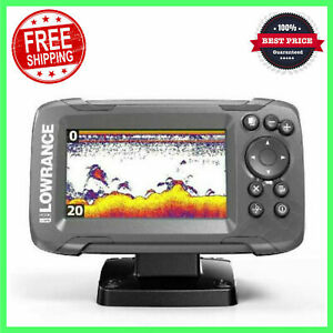Fish Finder Gps Combo Depth Finder Transducer with Solar MAX 4 inch Display Gray $165.36
