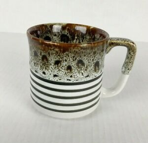 Hand Made Ceramic Mug Lava Drip Glaze Made in Japan 3.5