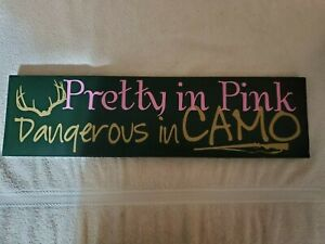 Camo Pink Hunting Sign