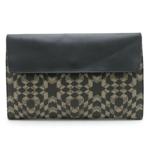 Bag Gucci Gg Supreme Kaleidoscope Clutch Second Khaki Beige Pvc Leather  No.3052
