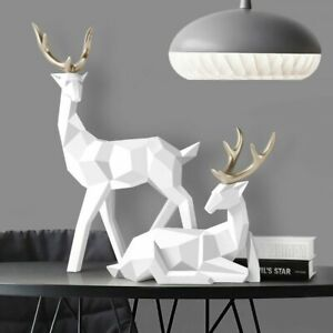 Deers Sculpture Resin Deer Statue Nordic Decoration Home Decor Modern Statues $48.50