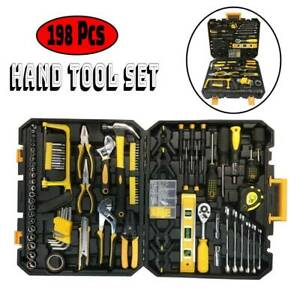 198 Pcs Hand Tool Set  Mechanics Kit General Household Hand Tool Kit with Case