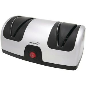 Brentwood TS-1001 Black/Silver Electric Knife Sharpener w/ 2-Stage Sharpening