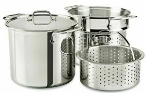 All-Clad E9078064 Stainless Steel Multicooker with Perforated Insert...