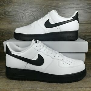 Nike	Air Force 1 Low 07 White Black Sole Sneakers CK7663 101 Mens Sizes $109.95