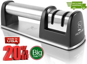 PriorityChef Knife Sharpener for Straight and Serrated Knives