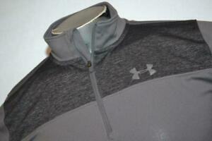 11111 a Kids Boys Under Armour Golf Pullover Shirt 1 2 Zip Size Youth XL Gray $15.49