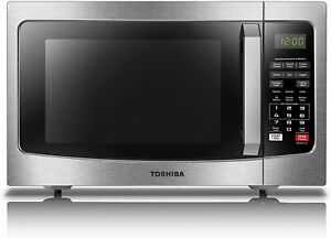 Toshiba EM131A5C-SS Microwave Oven with Smart Sensor, Easy Clean , 1.2 Cu.ft
