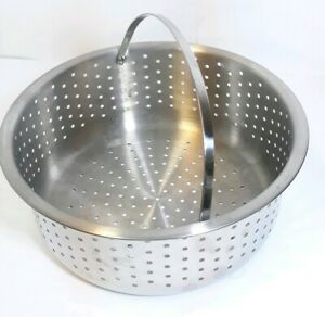 All Clad Replacement Pasta Strainer Steamer Basket Insert new! Stainless steel