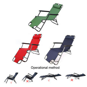 Folding Reclining Beach Sun Patio Chaise Lounge Chair Pool Outdoor Lawn Lounger