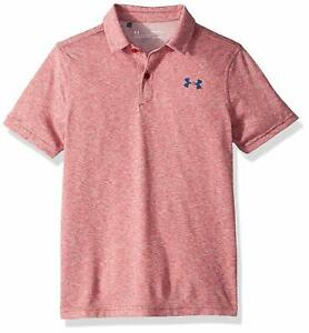 Under Armour Boy's Golf Shirt Small, UA Vanish Polo, Red, New With Tags $19.99
