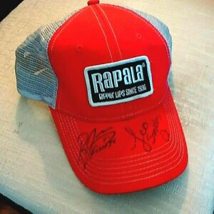 For Fans of Fishing TV Signed Rapala Rippin#x27; Lips Baseball Hat Cap Mesh Back