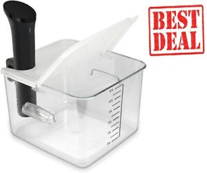 Sous Vide Container 12 Quart with Collapsible Hinge Lid for Anova Cookers EVC-12