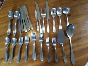 Set of 78 Hampton Silversmiths Stainless Messina Pattern Flatware Serving Pieces