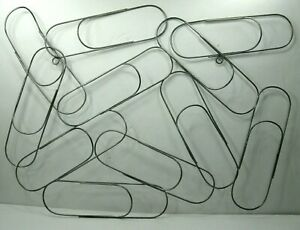 Abstract Metal Sculpture Oversized Paper Clip Wall Hanging MidCentury Style $39.95