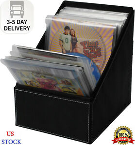 Atlantic Media Sleeve Storage Bin Leatherette Front Quality Stitching and inc $27.43