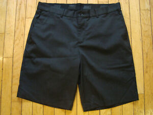 NIKE GOLF STANDARD FIT DRI FIT FLAT FRONT BLACK SHORTS MENS SIZE 34 HARDLY WORN! $18.50