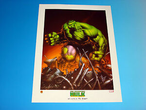 Incredible Hulk Lithograph Marvel Comics Dale Keown Art Avengers Limited Edition $9.99