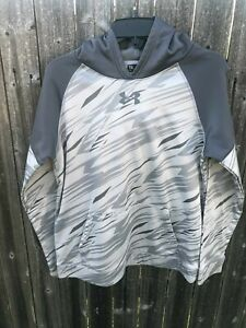 Kids Under Armour Hoodie Youth XL Grey and White $7.99