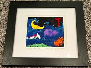 John Booth Signed Jungle Sleeps LE 29250 Dated 2011 Lithograph Print Framed Art $25.00