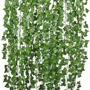 Fake Ivy Leaves 6pk. Artificial Greenery vines for decor room decor garland