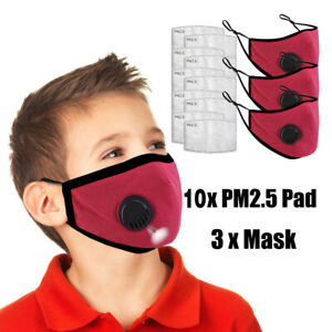Outdoor Cycling Camping Children Mouth Mask Unisex Cotton Face Mask Anime Mask
