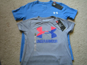 Under Armour Boys Lot Polyester T Shirts 2 size YMD Youth Medium NWT!! $16.50