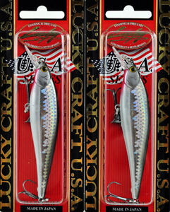 LOT OF 2 LUCKY CRAFT POINTER 95 5 8OZ PT95 765 MS ANCHOVY J9212