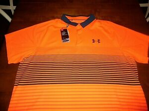 Under Armour 2XL Iso Chill Golf Polo AntiOdor UPF Stretch Orange Loose Fit XXL $22.00