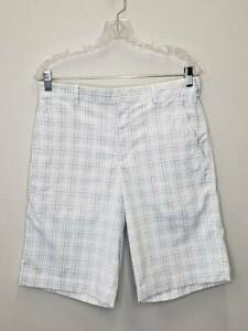 12 7 Mens Nike Dri Fit Tour Performance Casual Golf Shorts Size 30 Blue White GC $4.00