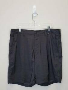 12 7 Mens Hurley Nike Dri Fit Casual Golf Shorts Size 38 Gray GC $4.00