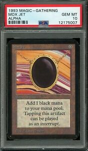 Alpha PSA 10 Mox Jet MTG Magic the Gathering 1993  One Of Only 3 Super Rare!