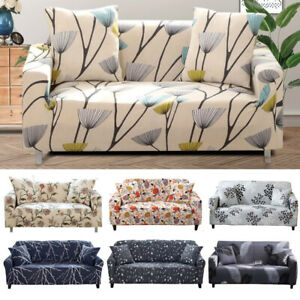 Printed Slipcover 2 3 4 Seater Sofa Covers Elastic Couch Cover Protector Decor