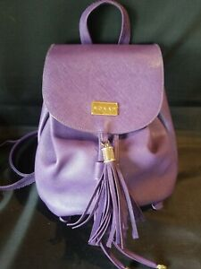 Monat Purple Backpack Tote Book Bag Purse 9.5quot; x 9quot; x 4.5quot; NEW $16.00