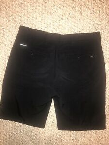 New Hurley Nike Dri Fit Mens Size 33 Waist Golf Shorts Black Spandex Polyester $8.99