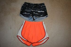 NIKE DRI FIT LOT OF 2 Women's Brief Lined Running Shorts Size Small $9.50