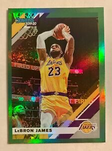 2019 20 Donruss LeBron James #94, GREEN FLOOD parallel 👑