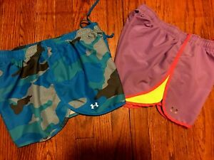 Lot of Women's Under Armour Running Shorts Size MD 8 10 $4.99