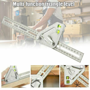 Multi Angle Ruler Universal Carpenter tool Spirit Level Combination Square Gauge $11.04