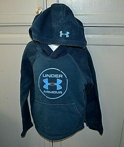 Under Armour Cold Gear blue sweatshirt hoodie youth sz XXS 6 8 loose fit $7.99